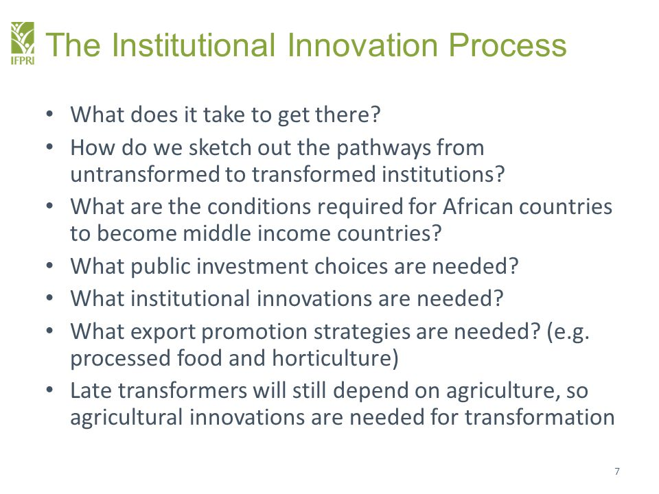 The Institutional Innovation Process