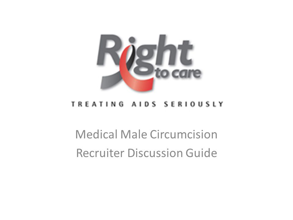Medical Male Circumcision Recruiter Discussion Guide