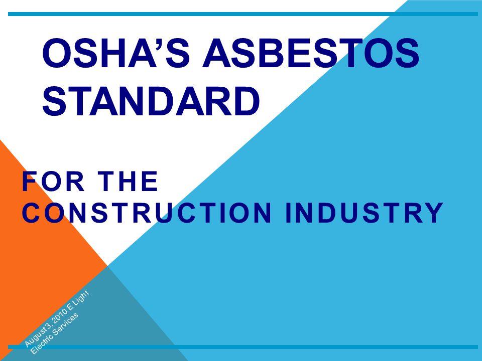 OSHA's Asbestos Standard