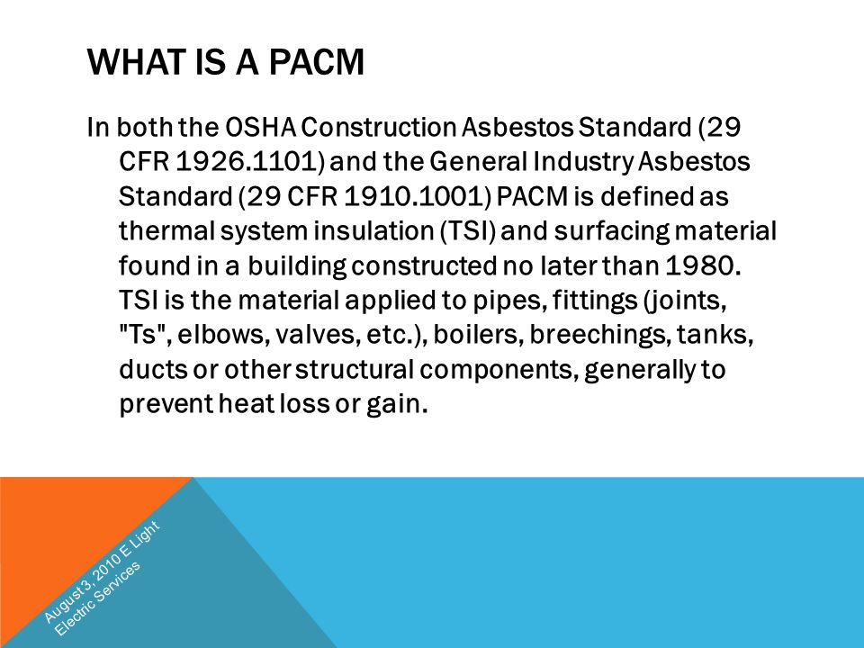 What is a PACM