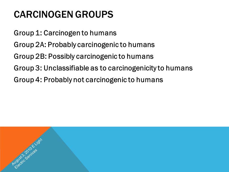 Carcinogen Groups