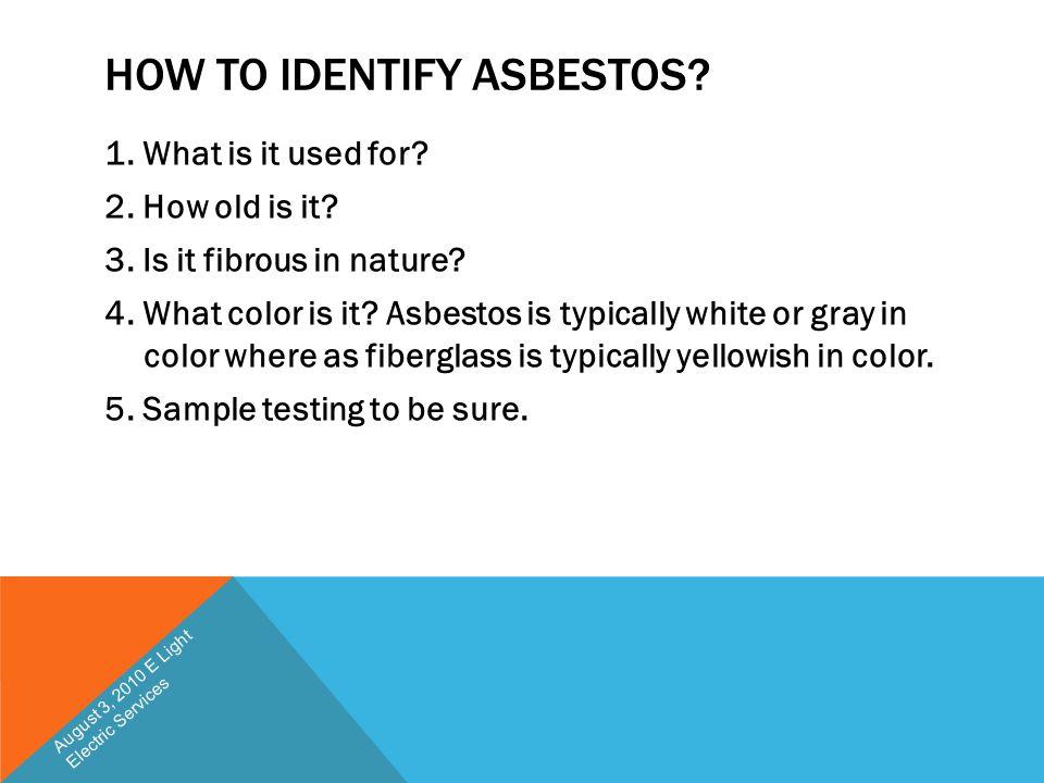 How to Identify Asbestos