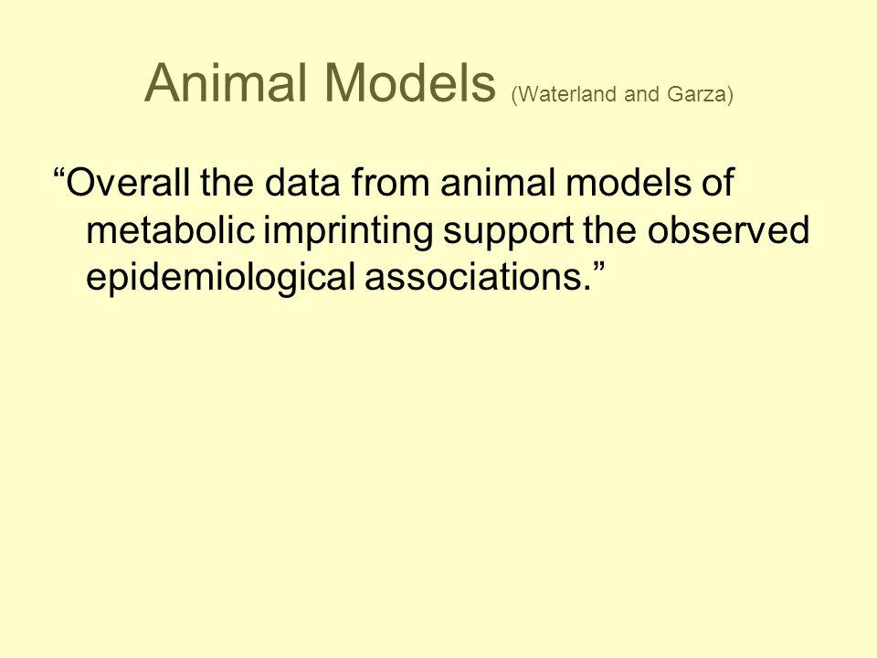 Animal Models (Waterland and Garza)