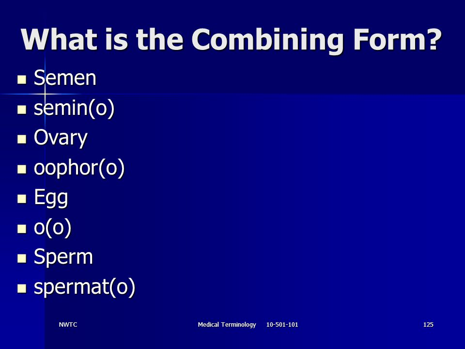 What is the Combining Form