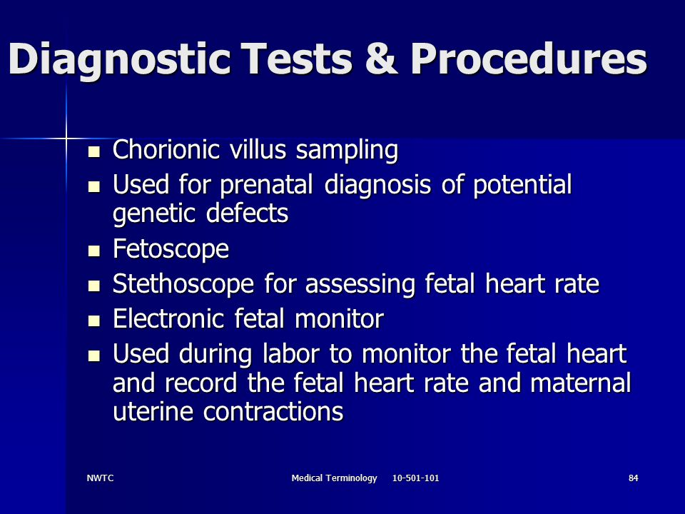 Diagnostic Tests & Procedures