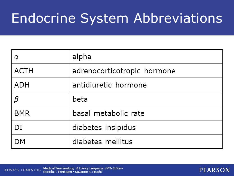 Endocrine System Abbreviations