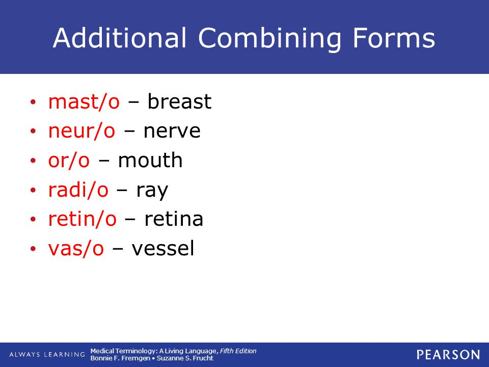 Additional Combining Forms