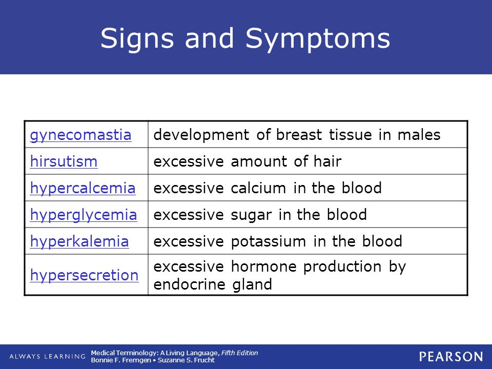 Signs and Symptoms gynecomastia development of breast tissue in males