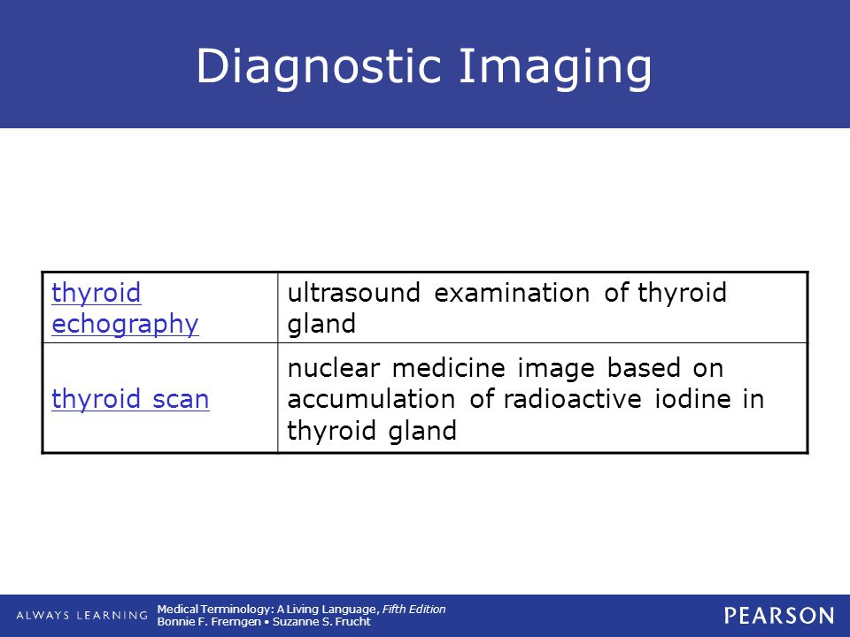 Diagnostic Imaging thyroid echography