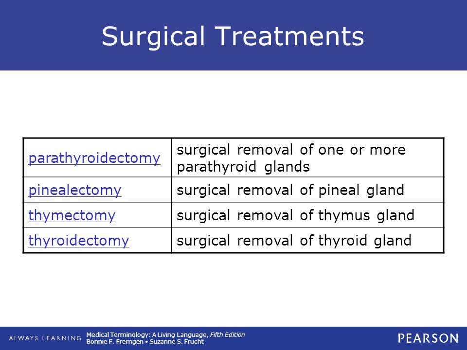 Surgical Treatments parathyroidectomy