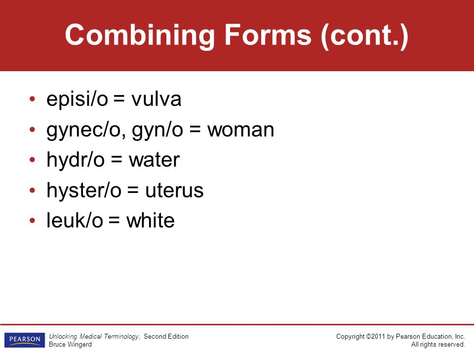 Combining Forms (cont.)