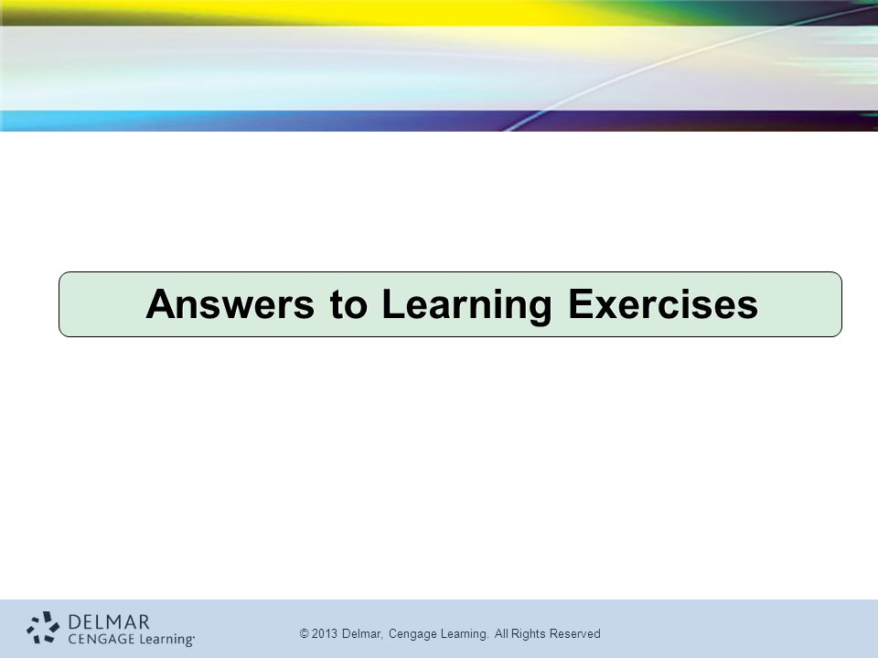 Answers to Learning Exercises