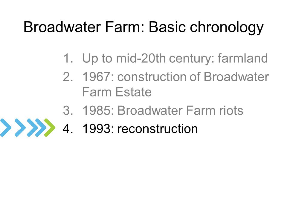 Broadwater Farm: Basic chronology
