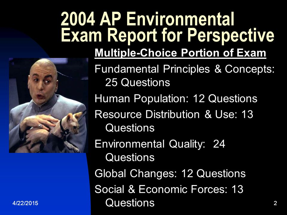 2004 AP Environmental Exam Report for Perspective