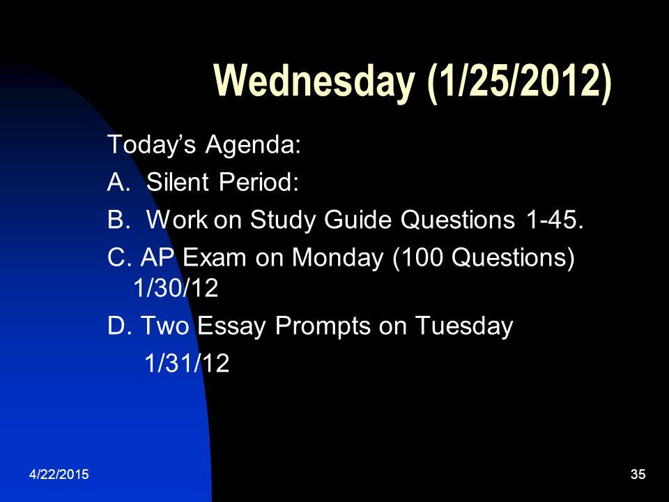 Wednesday (1/25/2012)