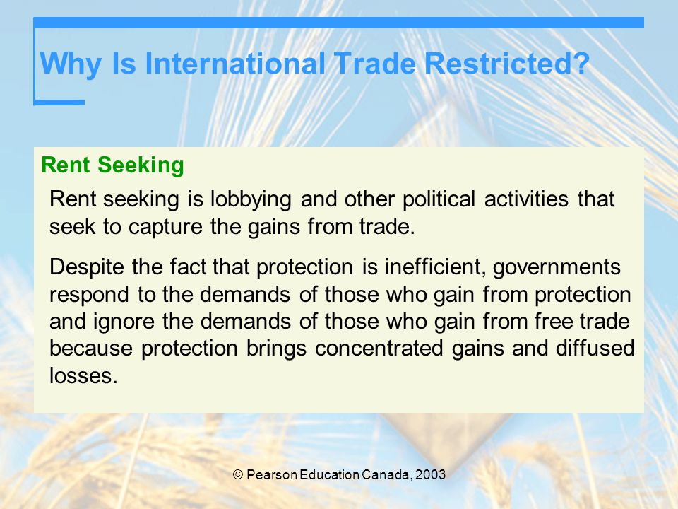 Why Is International Trade Restricted