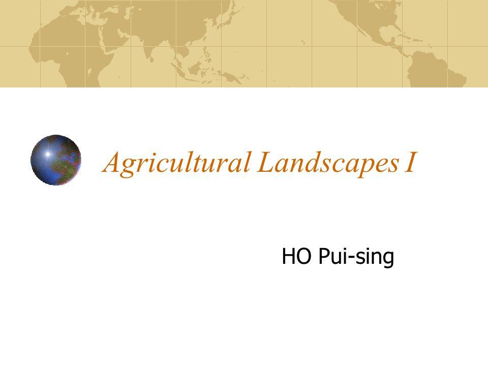 Agricultural Landscapes I