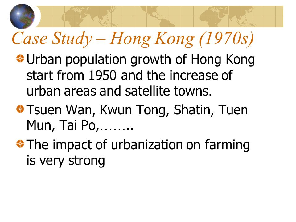 Case Study – Hong Kong (1970s)