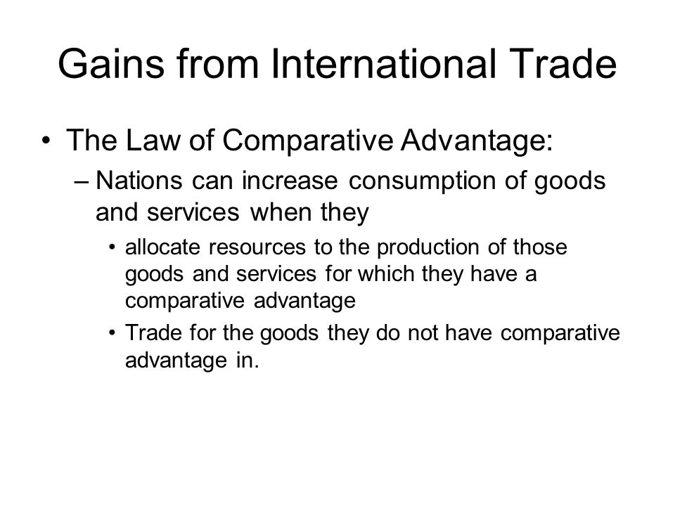 Gains from International Trade