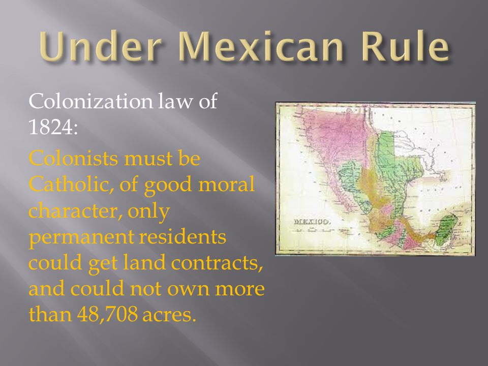 Under Mexican Rule