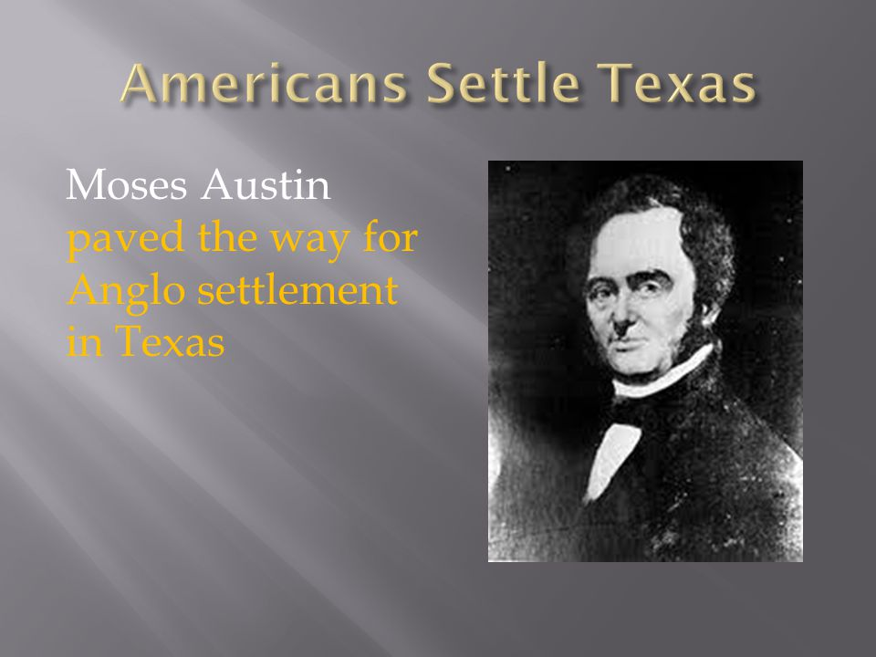 Americans Settle Texas