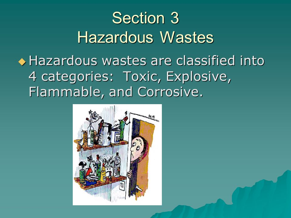 Section 3 Hazardous Wastes