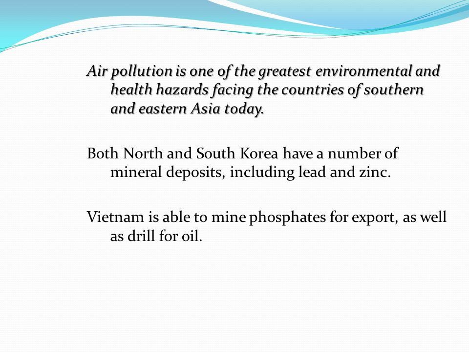 Air pollution and enviromental hazards