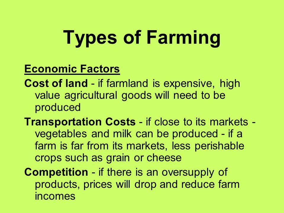 Types of Farming Economic Factors