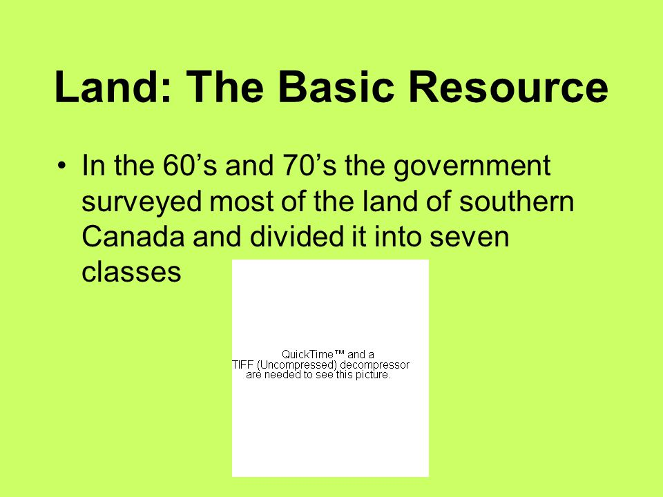 Land: The Basic Resource