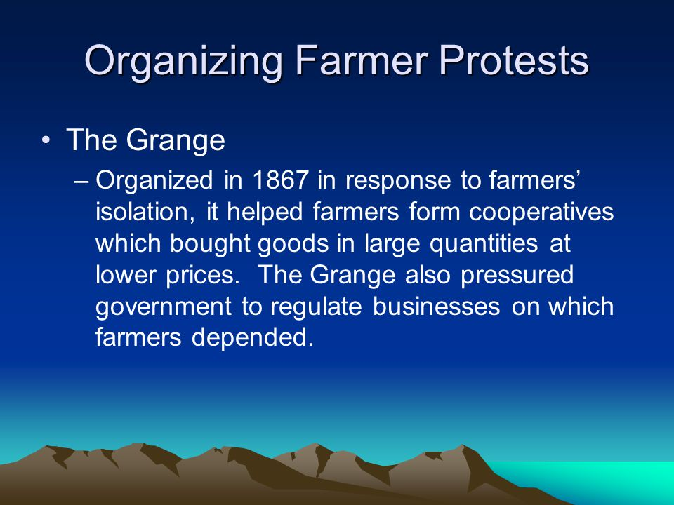 Organizing Farmer Protests