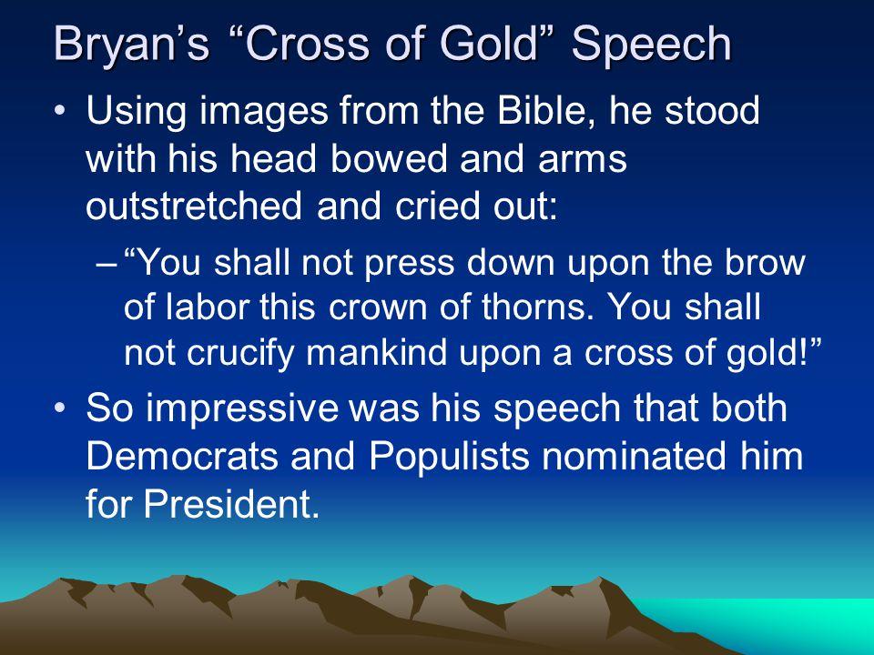 Bryan's Cross of Gold Speech