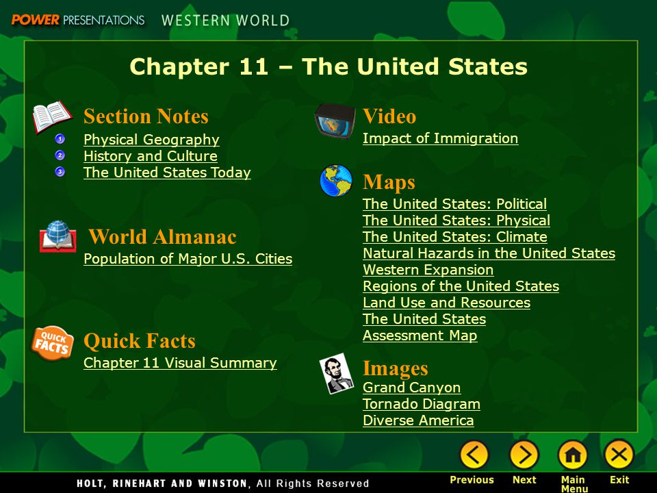 Chapter 11 The United States ppt download
