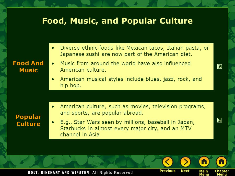 Food, Music, and Popular Culture