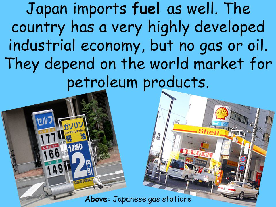 Above: Japanese gas stations