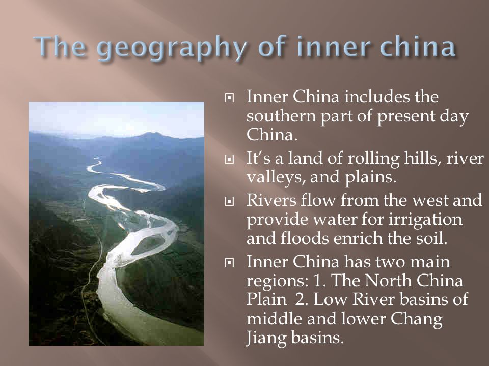 The geography of inner china