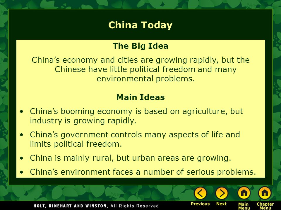 China Today The Big Idea