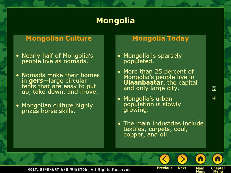 Mongolia Mongolian Culture Mongolia Today