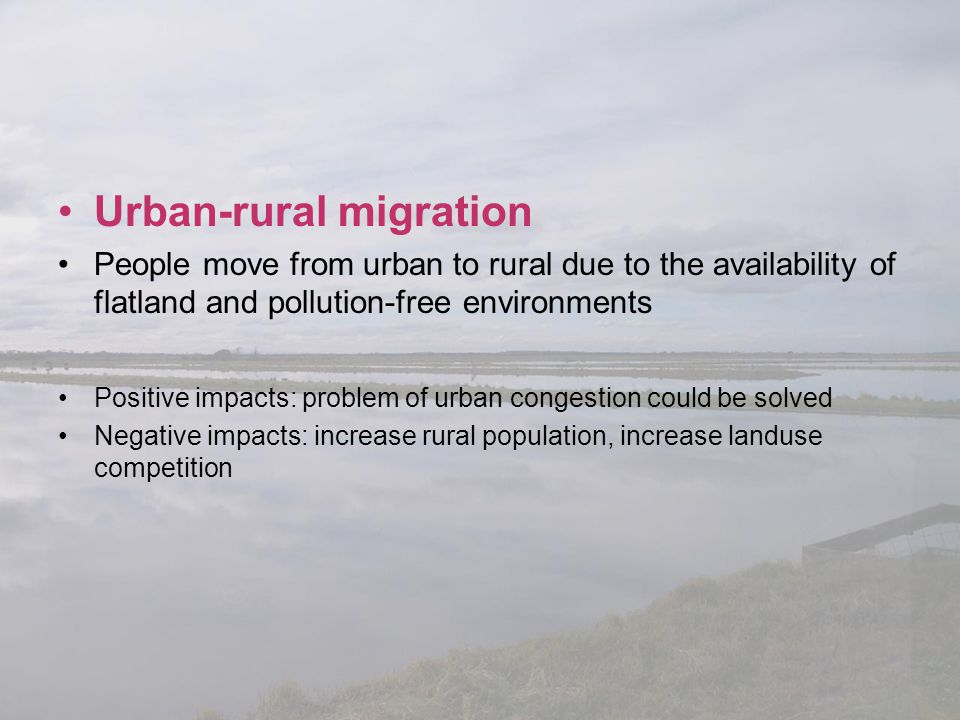 Urban-rural migration