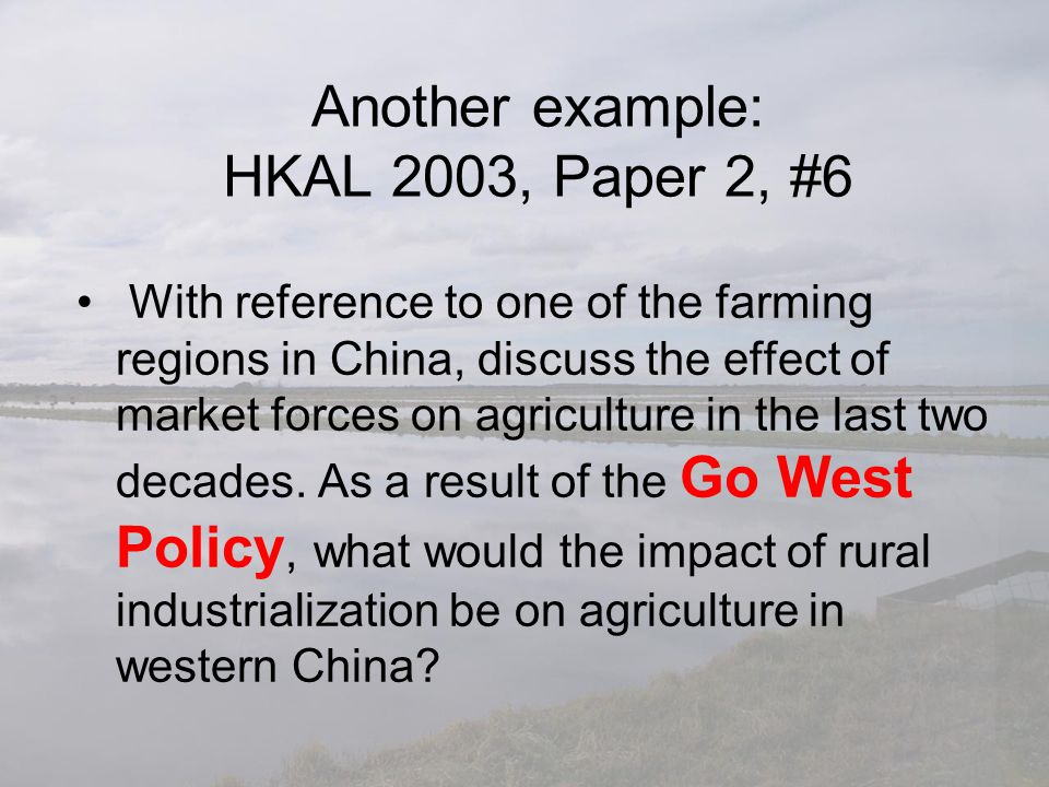 Another example: HKAL 2003, Paper 2, #6