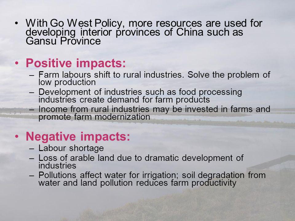 Positive impacts: Negative impacts: