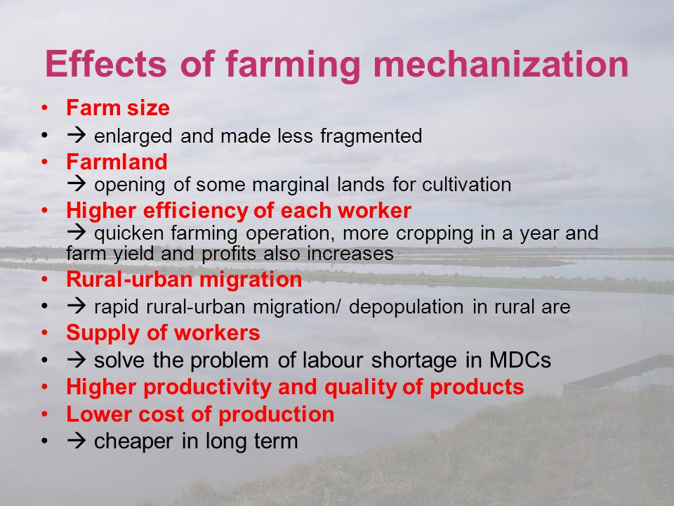 Effects of farming mechanization