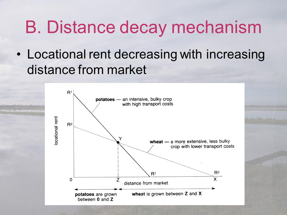 B. Distance decay mechanism