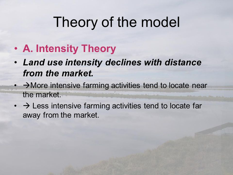 Theory of the model A. Intensity Theory
