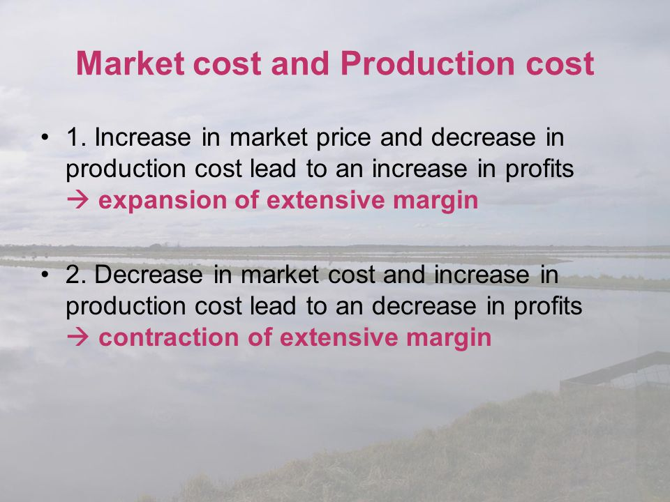 Market cost and Production cost