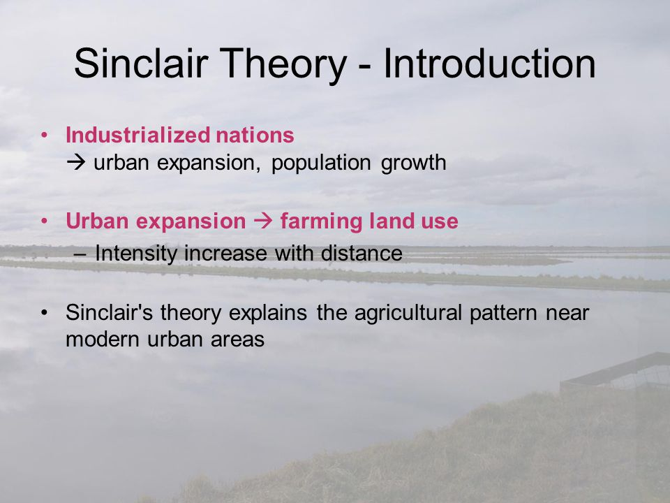 Sinclair Theory - Introduction