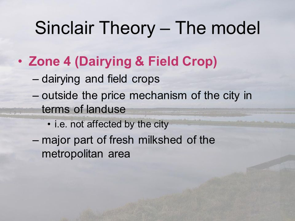 Sinclair Theory – The model
