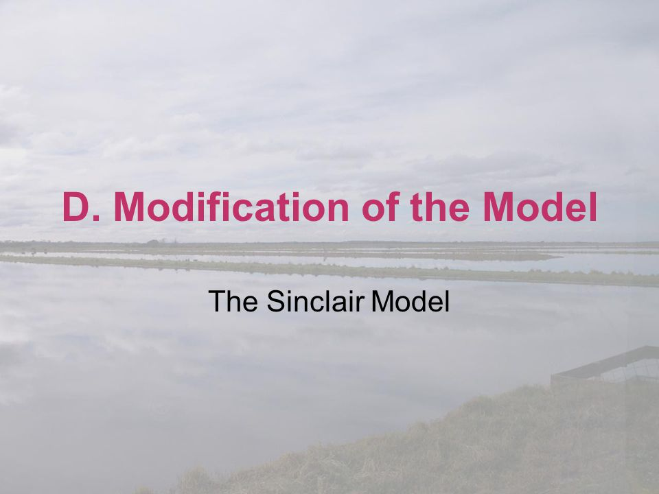 D. Modification of the Model