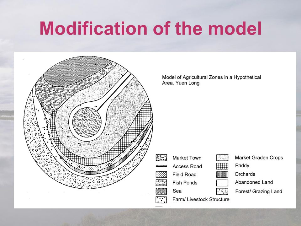 Modification of the model