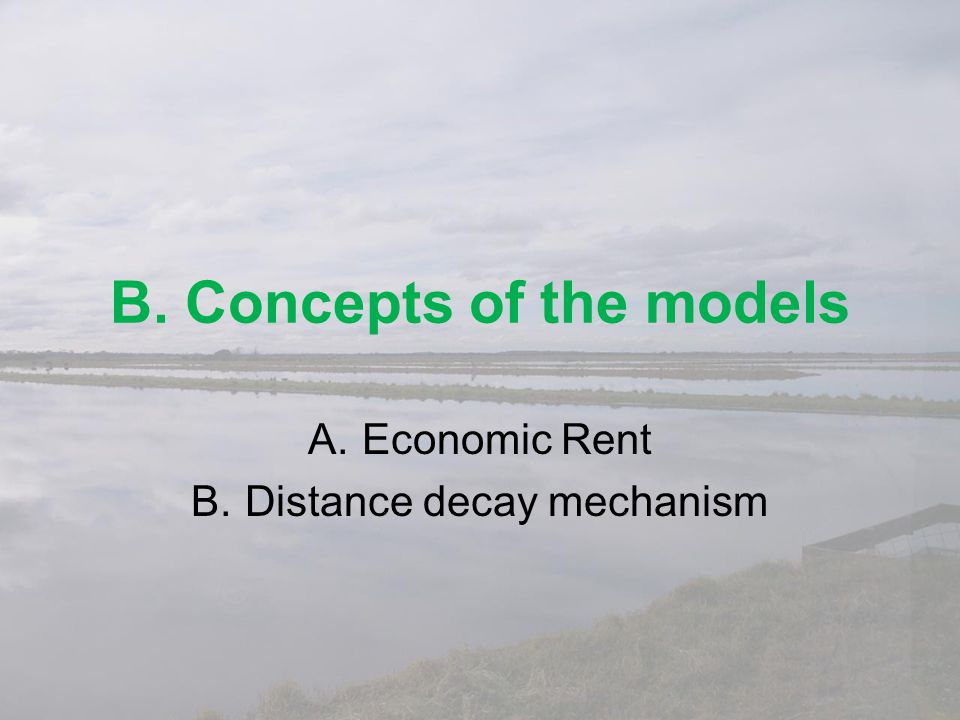 B. Concepts of the models
