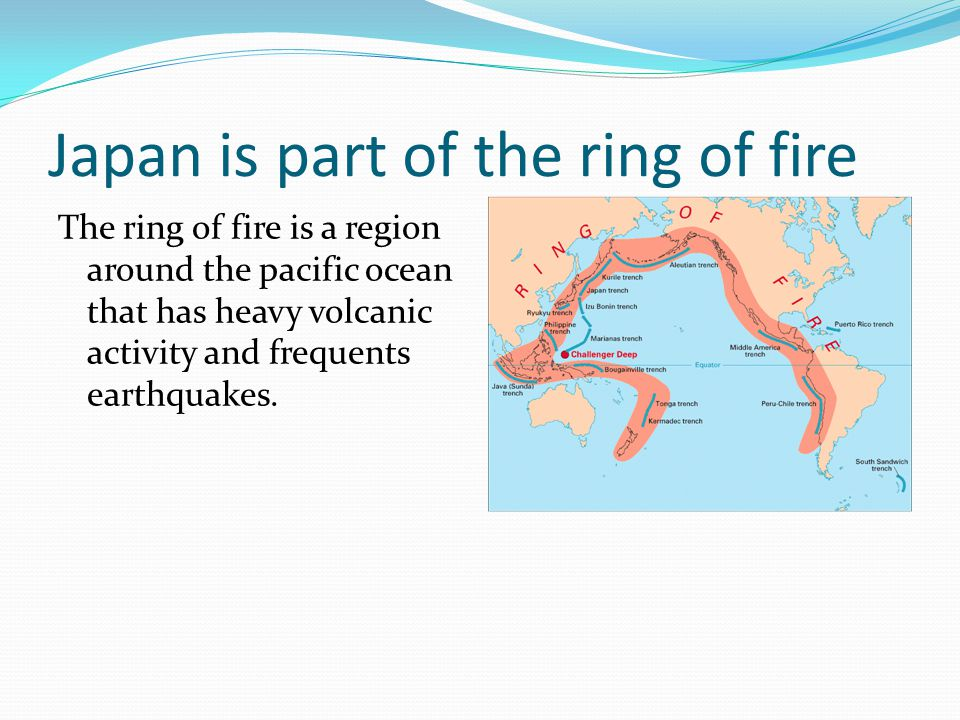Japan is part of the ring of fire